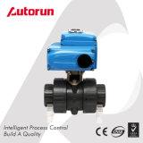 Robinet à tournant sphérique de PVC de fournisseur de Wenzhou avec le dispositif d'entraînement électrique