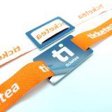 Musikfestival MIFARE Classic 1K RFID gewebtes Armband Gewebe Armband