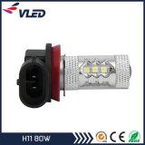 Indicatore luminoso di nebbia di H11 H9 H8 LED 80W 800 lampadine della nebbia di prezzi di fabbrica di lumen