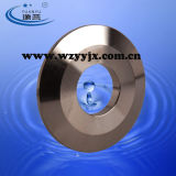 Aço inoxidável sanitário com o orifício da tampa da extremidade