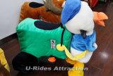 Pé de Pato com moedas passeios de animais para crianças