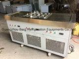 商業ステンレス鋼R410 2の平らな鍋はアイスクリーム機械を揚げた
