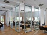 Partition de bureau en verre Tempered de modèle moderne