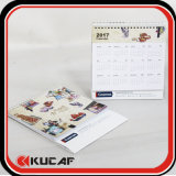 Publicidade Laser Die Cut & Gold Hot Stamping Pearl Paper Calendário 2018