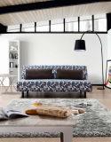 Sofa convertible élégant de tissu Cum le bâti
