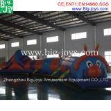 Divertido túnel gusano inflable para los niños