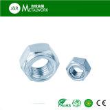 めっきされた亜鉛は電流を通したすべての金属の十六進フランジのロックナット(DIN580)に