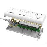 Wechselstrom 7 wir Stecker-Anschlüsse 5 USB-Kanal-Energien-Streifen-Aufladeeinheit