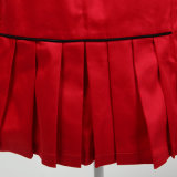 Dropship Servicio Mujeres Rojo Sexy Lápiz Falda Hilo Dyed