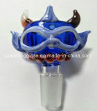 Tubo de agua de vidrio Tazón de hierbas secas Vidrio Accesorios para fumar