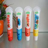 Impressão de desenhos animados Sin Care Packaging Tubo de gel de banho Shampoo Tube