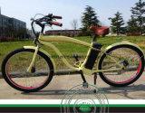 Plage conduisant la bicyclette électrique pour les hommes