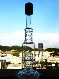Tubulação de água de vidro de fumo do mini reciclador por atacado do tambor do dobro da taça