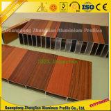 Seção oca de alumínio retangular da grão de madeira de PVDF por 10 anos ao ar livre
