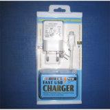2 in 1 Verpackungs-Kasten USB-Aufladeeinheits-Wand-Adapter-Set für Handys