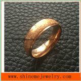 Sabbia elegante del rullo dei monili sull'anello di oro di superficie della Rosa (SSR2794)