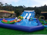 장애물 코스 (HL-308)를 가진 큰 팽창식 물 공원