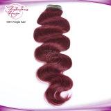 Cheveu 99j brésilien de cheveu de couleur rouge d'onde fabuleuse de corps
