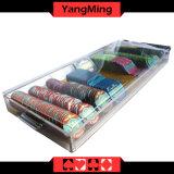 Прозрачный 9 ряда акриловый казино покер плавающего режима микросхемы лоток для стружки с блокировкой Ym-CT09