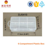 Scatola di plastica registrabile dello scompartimento 6