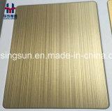 De matte Decoratieve Plaat van de Bladen van de anti-Vingerafdruk Roestvrij staal Gekleurde