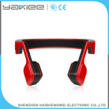 Auriculares sem fio vermelhos do estéreo de Bluetooth da condução de osso do telefone móvel