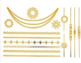autoadesivo provvisorio impermeabile metallico del tatuaggio della collana di modo