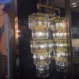 Grande candelabro de cristal luxuoso cilíndrico moderno francês para a convenção salão