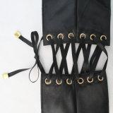 Регулируемый черный пояс ткани сатинировки