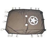 J260 Full Mesh noir Lantsun parasol capot protection UV avec poches de stockage pour Jeep Wrangler Jk 2007-2017 4 portes