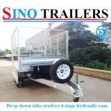 Упадите вниз бортовой гальванизированный наклоняя трейлер, трейлер Tipper трактора трейлера фермы