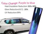 Цвет хамелеона изменяет пленку окна предохранения от автомобиля солнечную