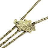 Dell'annata del metallo cinque del disco di puzzle di Bff di puzzle della collana degli migliori amici monili Pendant di amicizia per sempre