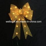 Gold Bow Glitter en or avec support en PVC