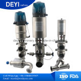 Soupape pneumatique sanitaire de contrôle de flux de Ss316L