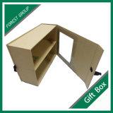 리본과 PVC Windows를 가진 엄밀한 서류상 선물 상자