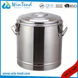 Heet Economisch Type 3 van Roestvrij staal van de Verkoop Vat van het Restaurant van de Isolatie van de Gesp het Draagbare Schuimende voor Vervoer