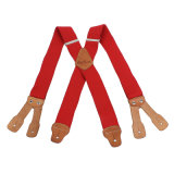 Suspenders elásticos pesados do furo de Buttone do couro genuíno da forma do Webbing (RS-137175)