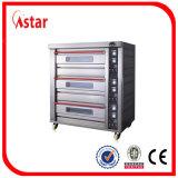 Commercieel Roestvrij staal 3 Dek 6 Oven van het Baksel van het Dek van het Dienblad de Elektrische voor de Apparatuur van de Bakkerij, met Goedgekeurd Ce
