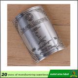 方法によってカスタマイズされるアルミニウムワインのラベルか金属のびんのラベル