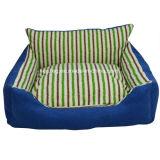 Waschbares quadratisches Streifen-Hundehaustier-Bett/Hundesofa/Matte (KA0065)