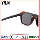 High End Unisex Black Polarized Sun Glasses Wood