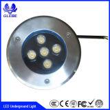 Redondo y cuadrado lámpara exterior IP65 Resistente al agua para jardín piso LED Luz subterránea