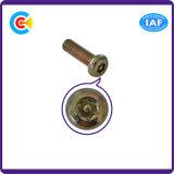 Prendedores da cabeça da bandeja da flor Galvanized/M2.5/Cinquefoil/parafuso para as peças de automóvel/mobília/aptidão/equipamento com coluna