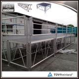 Étape extérieure modulaire d'étape portative en aluminium avec la rambarde