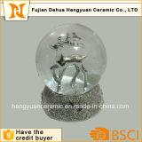 Globo de prata de galvanização da neve para a decoração do Natal