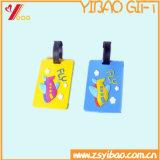 Бирка багажа багажа PVC цены по прейскуранту завода-изготовителя для рекламировать подарок (YB-t-008)