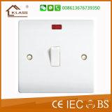 Interruptor de cobre de Bell de puerta de la baquelita con el neón