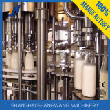 저온 살균을 행하는 Uht 우유의 생산 라인