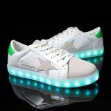 Tubo de LED 8 casal moda mulheres tênis adultos homens sapatas LED plana